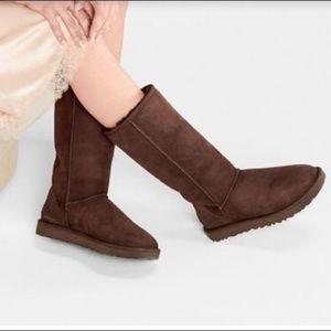 Ugg Classic Tall Sheepskin Boots Chocolate Size 9